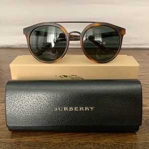 Burberry Tortoise Shell Round Sunglasses